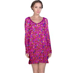 Polka Dot Sparkley Jewels 1 Long Sleeve Nightdresses by MedusArt