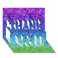 Grunge Art Abstract G57 Thank You 3d Greeting Card (7x5)  by MedusArt
