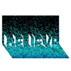 Glitter Dust G162 Believe 3d Greeting Card (8x4)