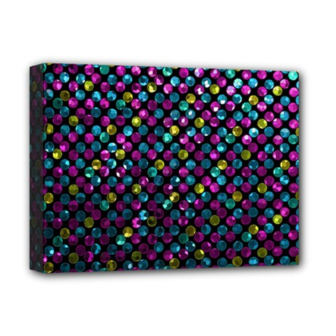 Polka Dot Sparkley Jewels 2 Deluxe Canvas 16  X 12   by MedusArt