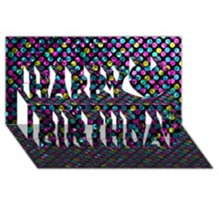 Polka Dot Sparkley Jewels 2 Happy Birthday 3d Greeting Card (8x4)  by MedusArt