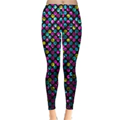Polka Dot Sparkley Jewels 2 Women s Leggings by MedusArt