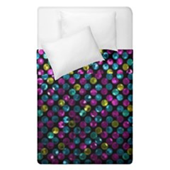 Polka Dot Sparkley Jewels 2 Duvet Cover (single Size) by MedusArt