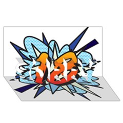 Comic Book 18 Blue Sorry 3d Greeting Card (8x4)  by ComicBookPOP