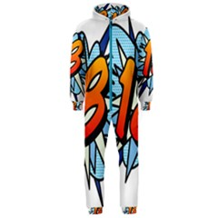Comic Book 18 Blue Hooded Jumpsuit (Men)  by ComicBookPOP