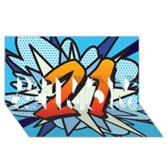 Comic Book 21 Blue #1 MOM 3D Greeting Cards (8x4)