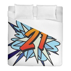 Comic Book 21 Blue Duvet Cover Single Side (twin Size) by ComicBookPOP