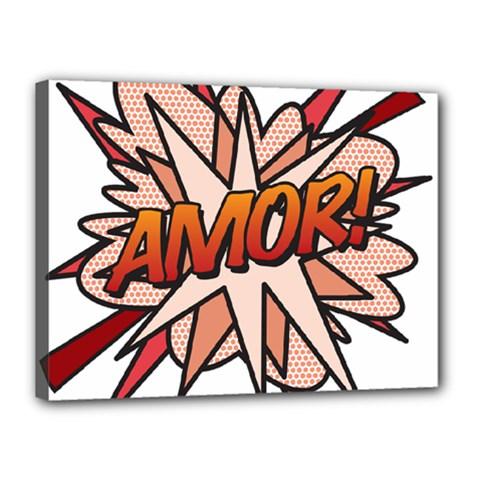 Comic Book Amor! Canvas 16  x 12  by ComicBookPOP
