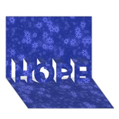 Snow Stars Blue Hope 3d Greeting Card (7x5)