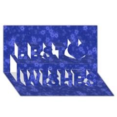 Snow Stars Blue Best Wish 3d Greeting Card (8x4)