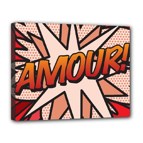 Comic Book Amour!  Canvas 14  x 11  by ComicBookPOP