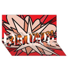 Comic Book Amour!  Believe 3d Greeting Card (8x4)  by ComicBookPOP