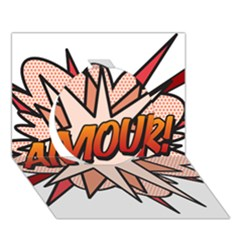 Comic Book Amour! Circle 3d Greeting Card (7x5)  by ComicBookPOP