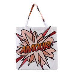 Comic Book Amour! Grocery Tote Bags by ComicBookPOP