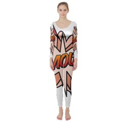 Comic Book Amour! Long Sleeve Catsuit by ComicBookPOP