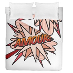 Comic Book Amour! Duvet Cover (full/queen Size) by ComicBookPOP
