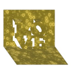Snow Stars Golden Love 3d Greeting Card (7x5)