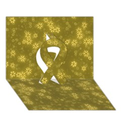 Snow Stars Golden Ribbon 3d Greeting Card (7x5)