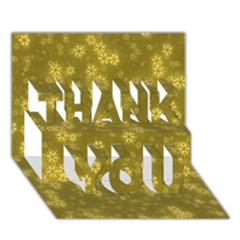 Snow Stars Golden Thank You 3d Greeting Card (7x5)