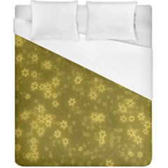 Snow Stars Golden Duvet Cover Single Side (double Size) by ImpressiveMoments