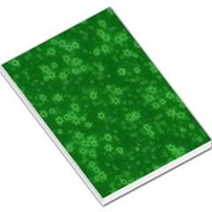 Snow Stars Green Large Memo Pads
