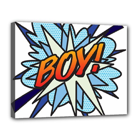 Comic Book Boy! Canvas 14  x 11  by ComicBookPOP