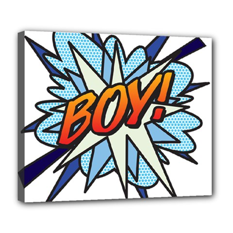 Comic Book Boy! Deluxe Canvas 24  x 20   by ComicBookPOP