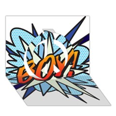 Comic Book Boy! Peace Sign 3d Greeting Card (7x5)