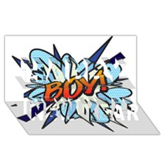 Comic Book Boy! Happy New Year 3d Greeting Card (8x4)  by ComicBookPOP