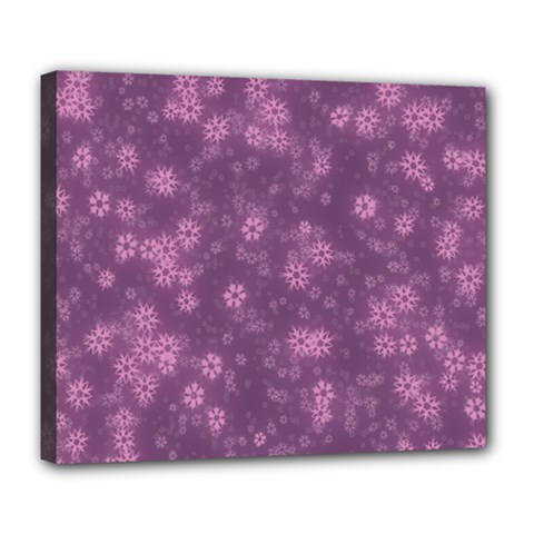 Snow Stars Lilac Deluxe Canvas 24  X 20   by ImpressiveMoments