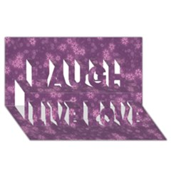 Snow Stars Lilac Laugh Live Love 3d Greeting Card (8x4)
