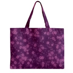 Snow Stars Lilac Zipper Tiny Tote Bags