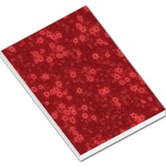 Snow Stars Red Large Memo Pads