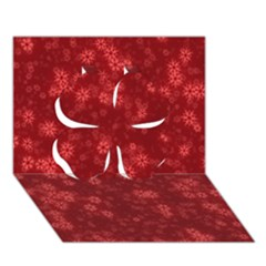 Snow Stars Red Clover 3d Greeting Card (7x5)