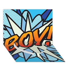 Comic Book Boy!  Heart Bottom 3d Greeting Card (7x5)