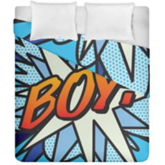 Comic Book Boy!  Duvet Cover (double Size) by ComicBookPOP