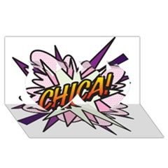Comic Book Chica! Twin Hearts 3d Greeting Card (8x4)  by ComicBookPOP