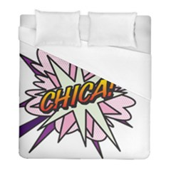 Comic Book Chica! Duvet Cover Single Side (Twin Size) by ComicBookPOP