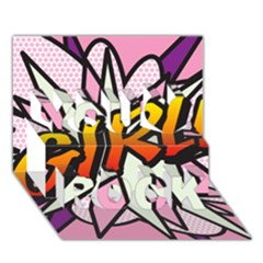 Comic Book Girl!  You Rock 3d Greeting Card (7x5)  by ComicBookPOP