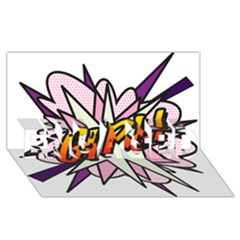 Comic Book Girl!  Engaged 3d Greeting Card (8x4)  by ComicBookPOP