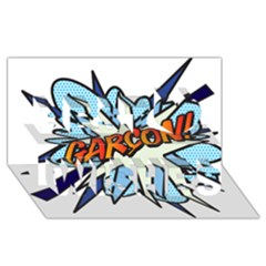 Comic Book Garcon! Best Wish 3D Greeting Card (8x4)  by ComicBookPOP