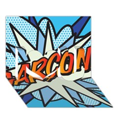 Comic Book Garcon! I Love You 3d Greeting Card (7x5)  by ComicBookPOP