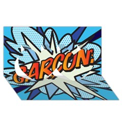 Comic Book Garcon! Twin Hearts 3d Greeting Card (8x4)  by ComicBookPOP