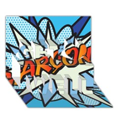Comic Book Garcon! Get Well 3d Greeting Card (7x5)  by ComicBookPOP