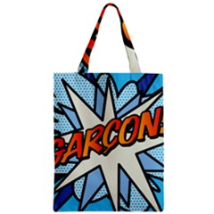 Comic Book Garcon! Zipper Classic Tote Bags by ComicBookPOP