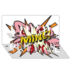 Comic Book Mine! Laugh Live Love 3d Greeting Card (8x4)  by ComicBookPOP