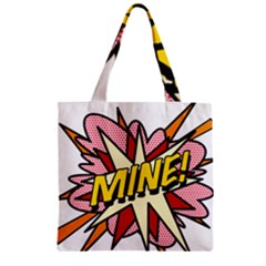 Comic Book Mine! Zipper Grocery Tote Bags by ComicBookPOP