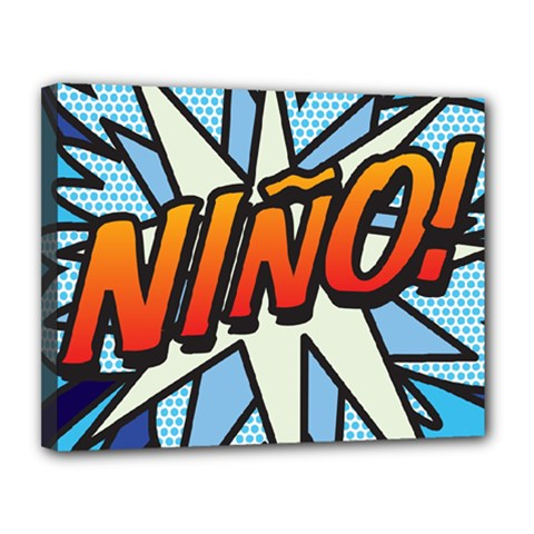Comic Book Nino! Canvas 14  X 11  by ComicBookPOP