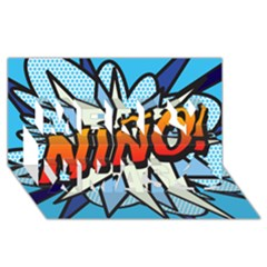 Comic Book Nino! Merry Xmas 3D Greeting Card (8x4)  by ComicBookPOP
