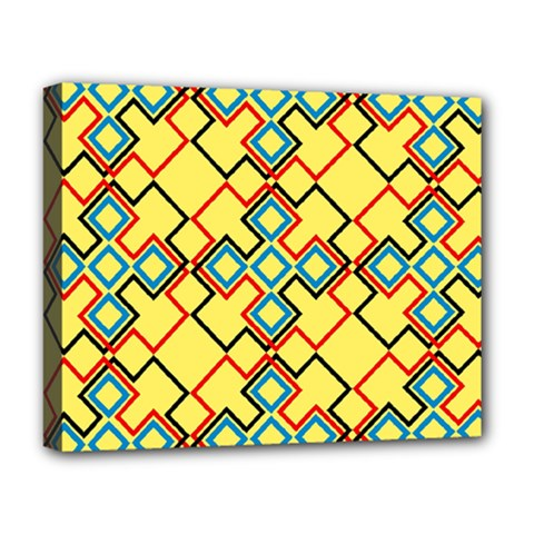 Shapes On A Yellow Background Deluxe Canvas 20  X 16  (stretched) by LalyLauraFLM